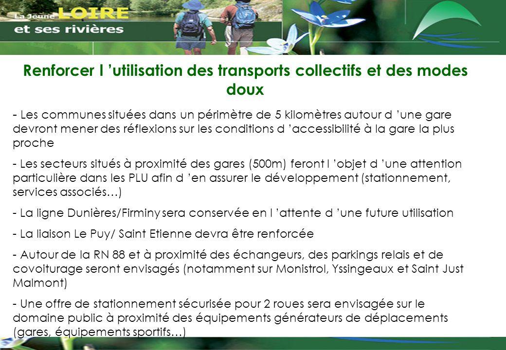 Renforcer l 'utilisation des transports collectifs et des modes doux - Les communes situées dans un périmètre de 5 kilomètres autour d 'une gare devro