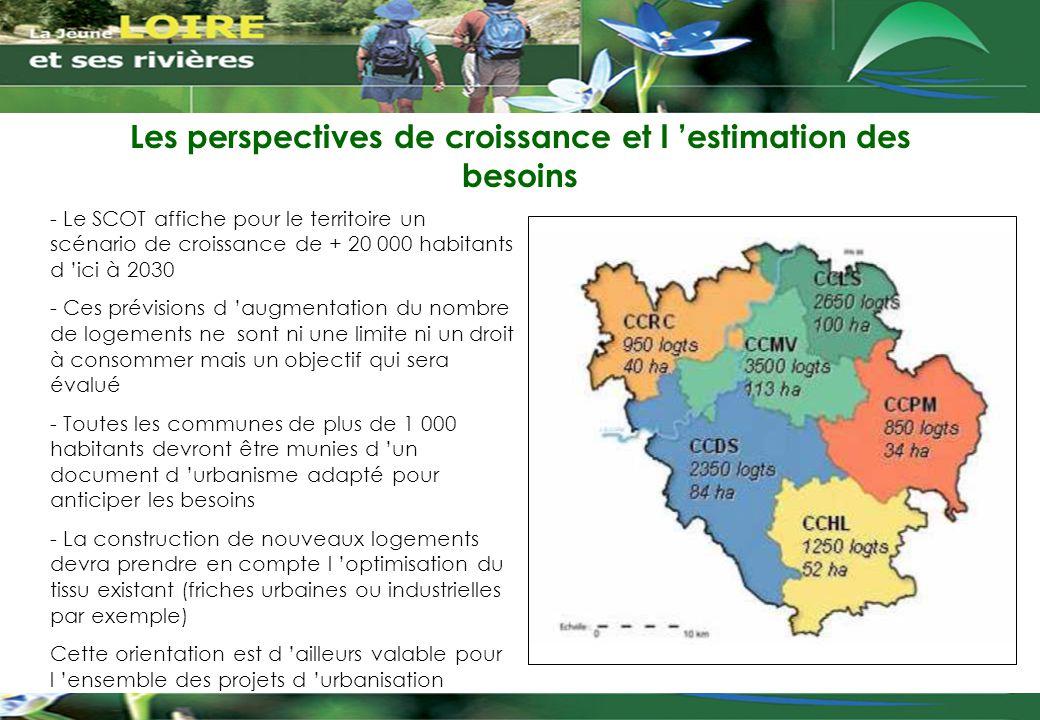 Les perspectives de croissance et l 'estimation des besoins - Le SCOT affiche pour le territoire un scénario de croissance de + 20 000 habitants d 'ic