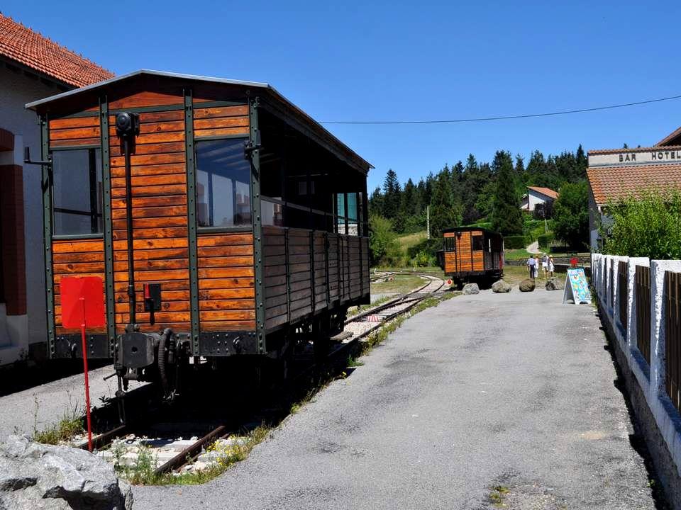 Voici en quelques termes le site consacré à ce train annonce la promenade et les plaisirs qui en découlent : Une autre façon de découvrir la Haute-Loire et l'Ardèche Avec le train touristique des Voies Ferrées du Velay vous cheminez à travers prairies et forêts.