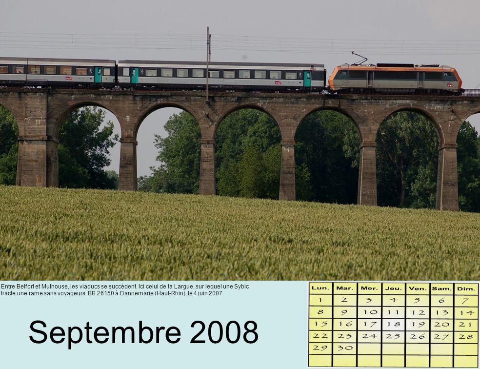 Septembre 2008 Entre Belfort et Mulhouse, les viaducs se succèdent.