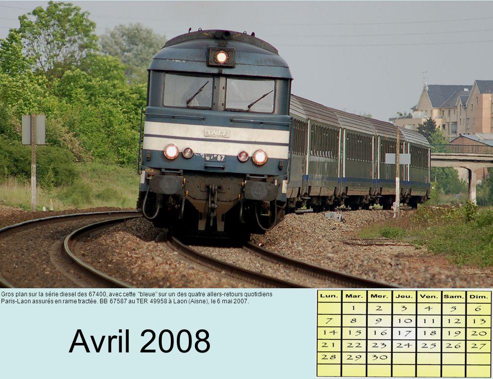 Mai 2008 Desserte de la campagne axonaise pour ce TER à destination de Paris Gare du Nord.