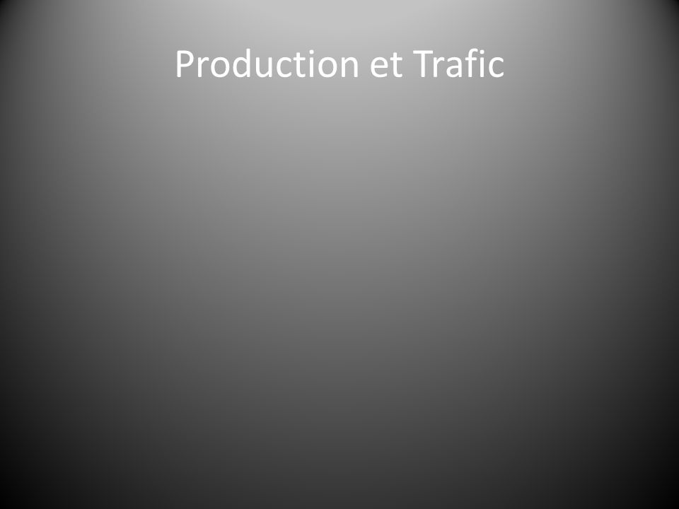 Production et Trafic