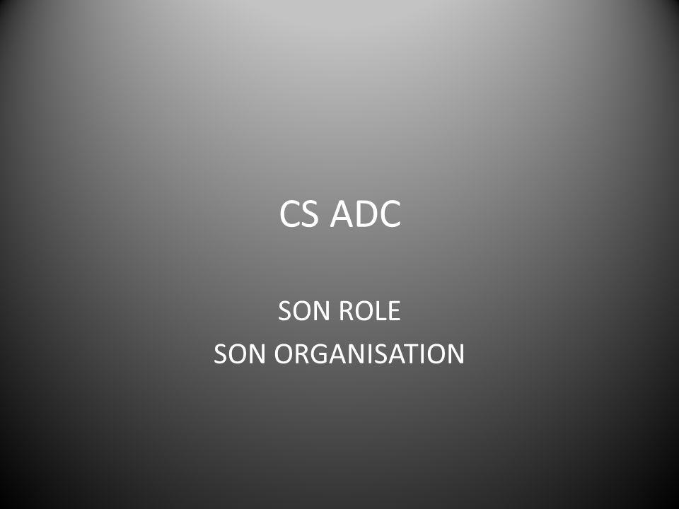 Après la CS Ne pas oublier de transmettre les questions hors compétence CS ADC afin de les poser à nouveau dans les instances concernées