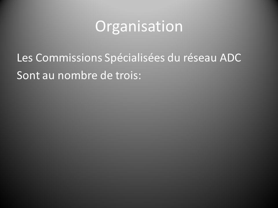 Les Commissions Spécialisées du réseau ADC Sont au nombre de trois: