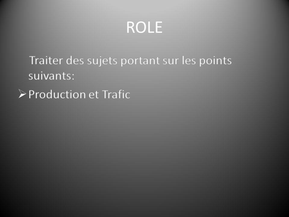 Traiter des sujets portants sur les points suivants:  Production et Trafic  Effectifs