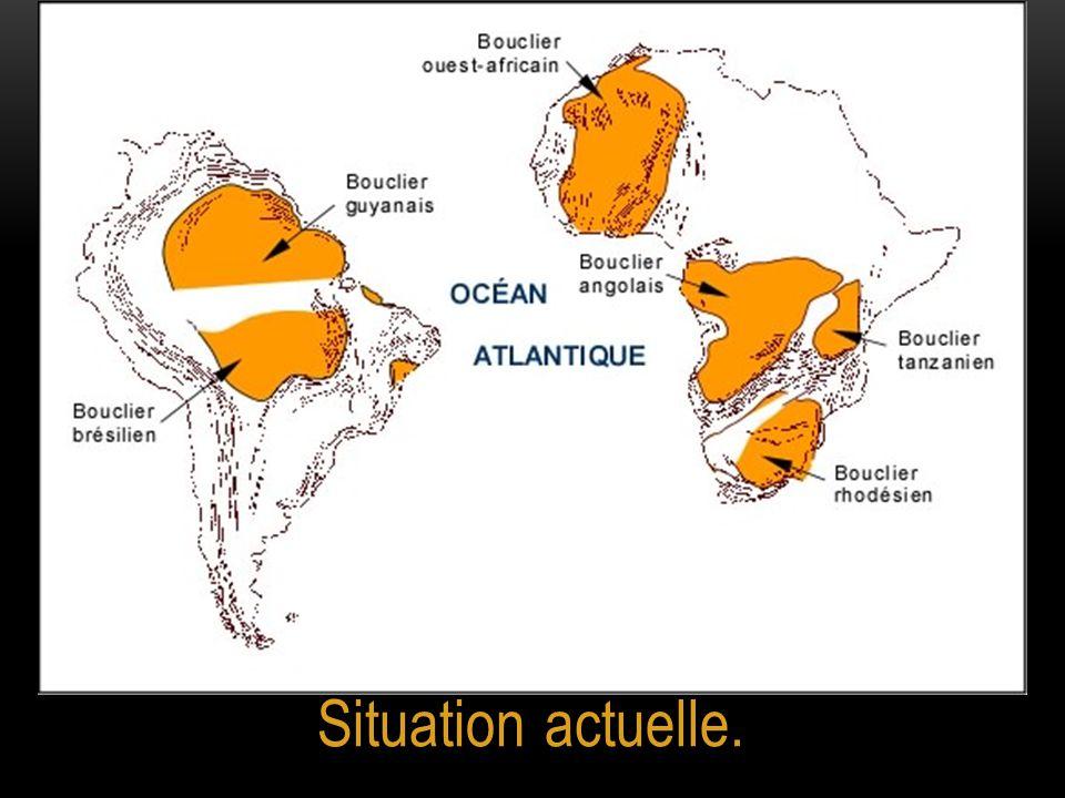 Solution apportée par WEGENER pour l'atlantique Sud.