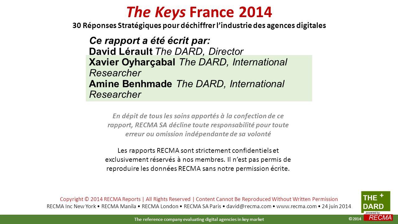 Ce rapport a été écrit par: David Lérault The DARD, Director Xavier Oyharçabal The DARD, International Researcher Amine Benhmade The DARD, Internation