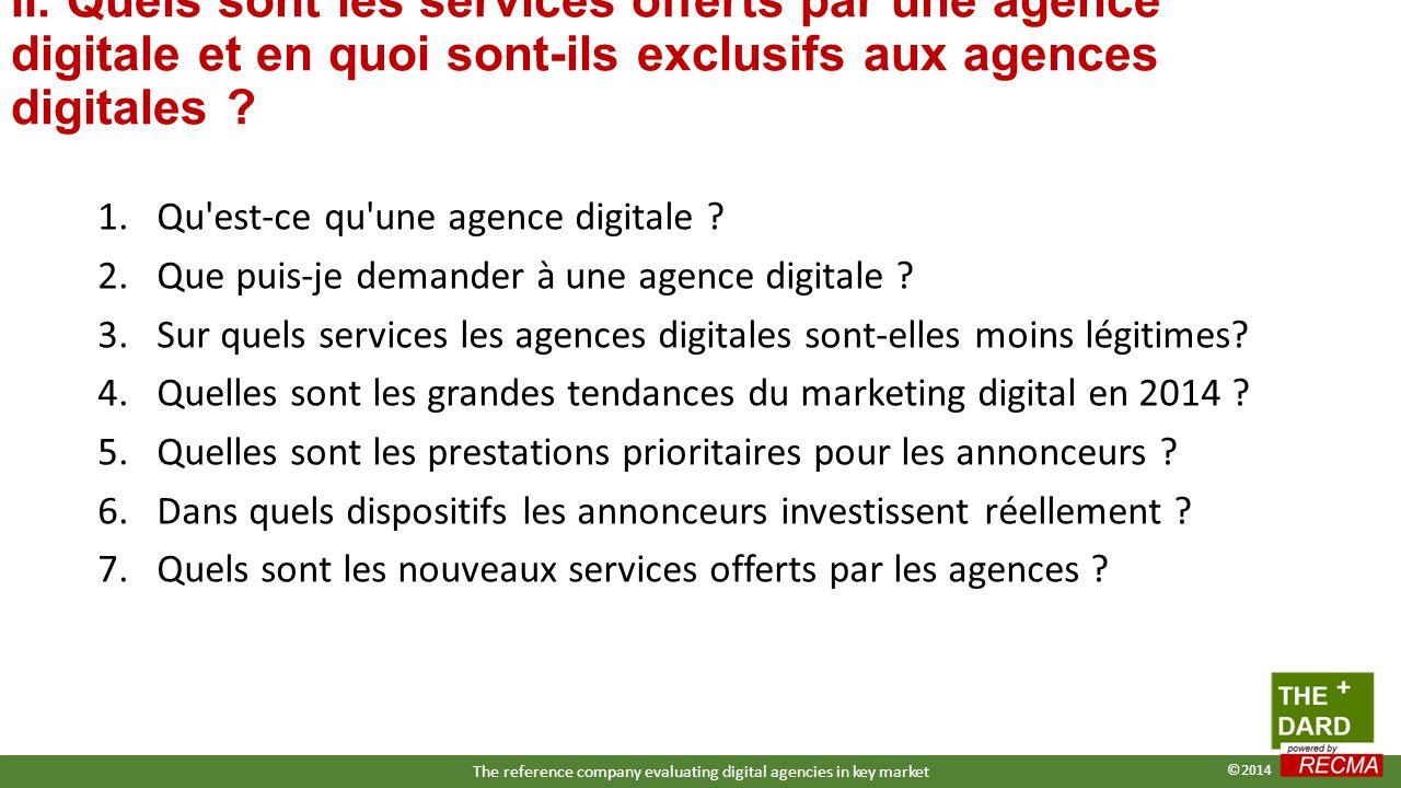 II. Quels sont les services offerts par une agence digitale et en quoi sont-ils exclusifs aux agences digitales ? 1.Qu'est-ce qu'une agence digitale ?