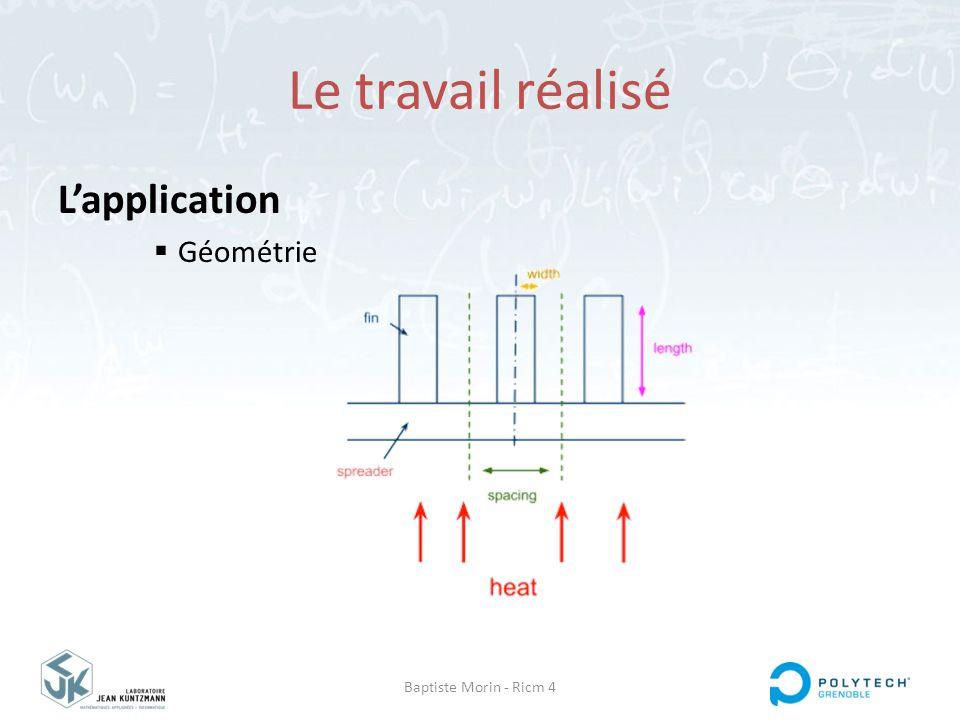Baptiste Morin - Ricm 4 Le travail réalisé L'application  Géométrie