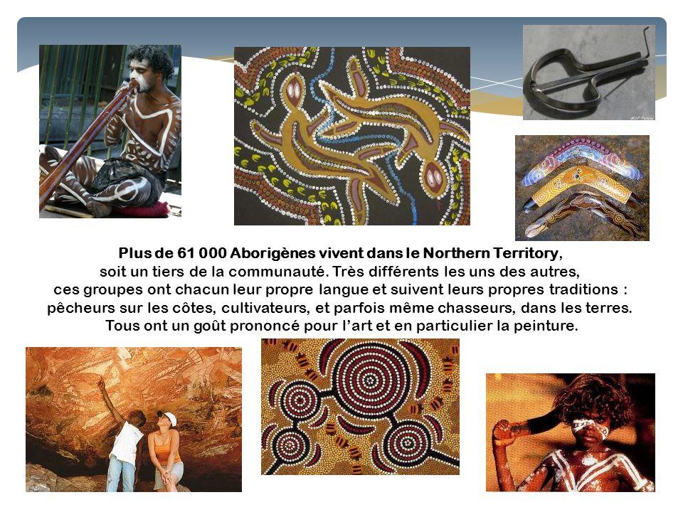 Plus de 61 000 Aborigènes vivent dans le Northern Territory, soit un tiers de la communauté. Très différents les uns des autres, ces groupes ont chacu