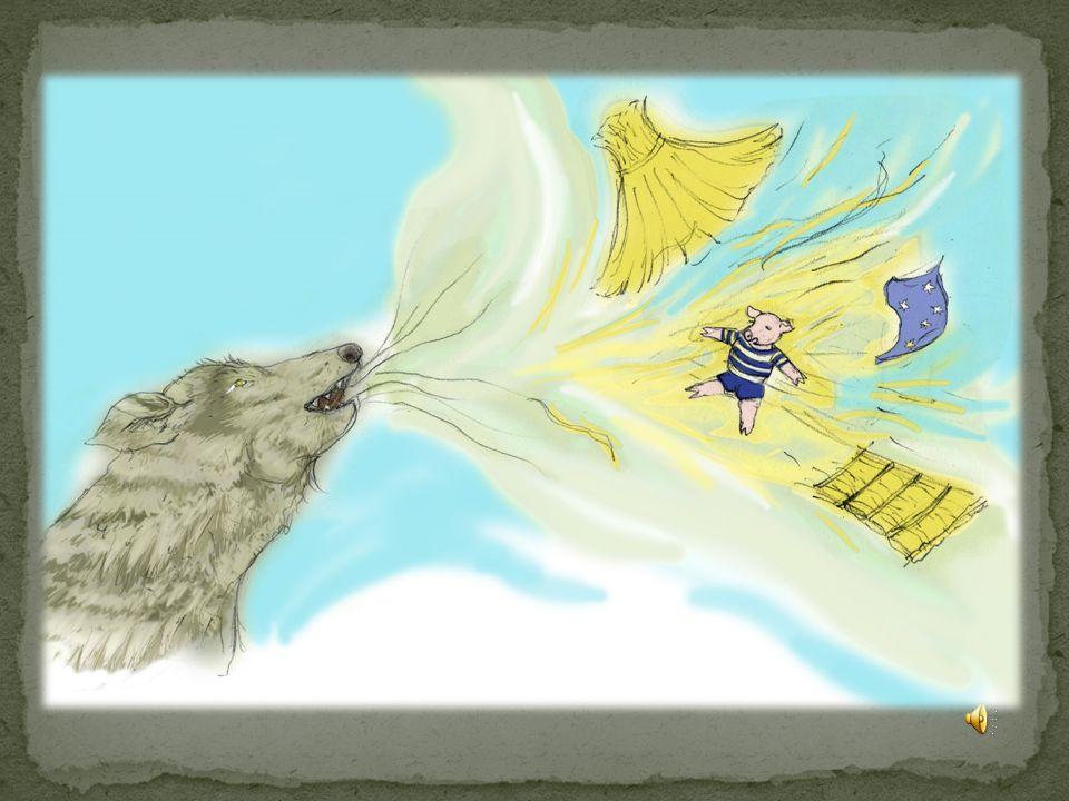 Quand le loup descendit dans la cheminée, il tomba tout droit au chaudron rempli d'eau.