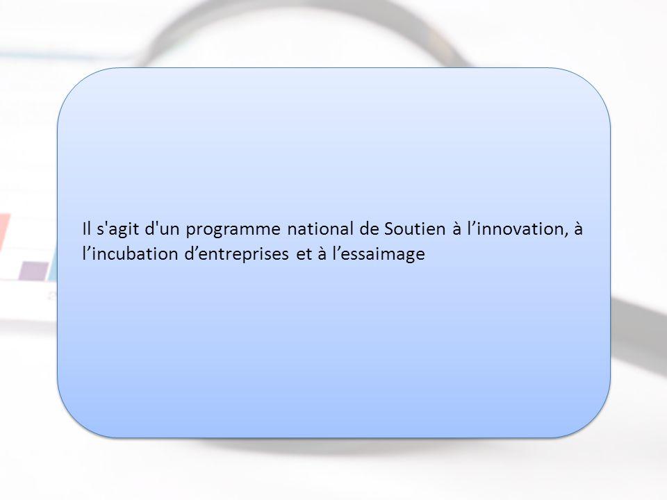 RMIE - Le Réseau Maroc Incubation et Essaimage http://www.rmie.ma RMIE - Le Réseau Maroc Incubation et Essaimage http://www.rmie.ma Il s agit d un programme national de Soutien à l'innovation, à l'incubation d'entreprises et à l'essaimage
