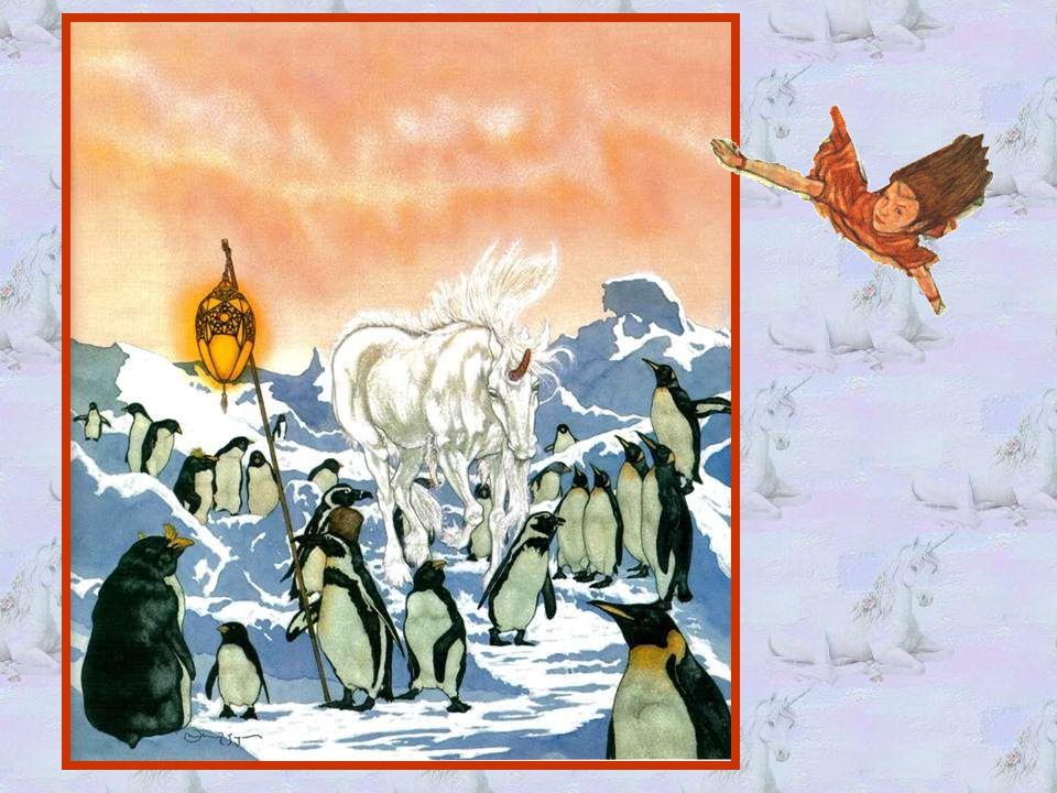 Ce qui étonna le plus Alinka, ce fut le pays des glaces.