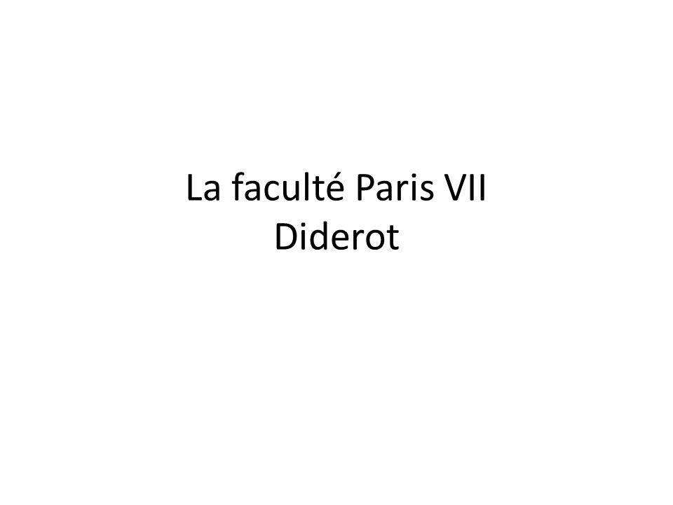 La faculté Paris VII Diderot