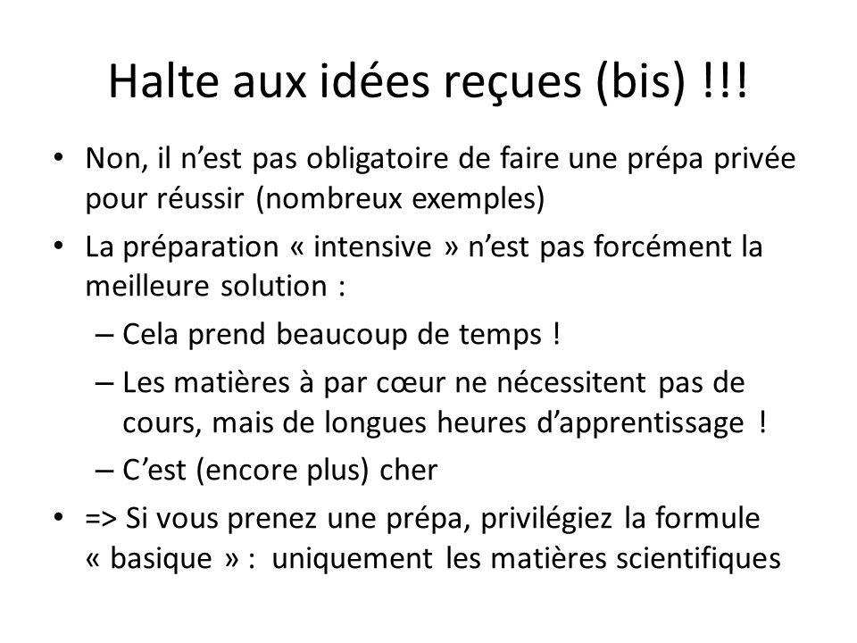 Halte aux idées reçues (bis) !!.