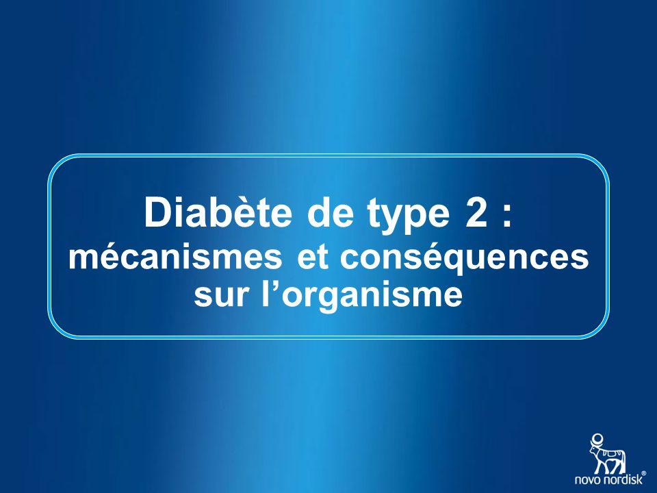 Diabète de type 2 : sur l'organisme mécanismes et conséquences