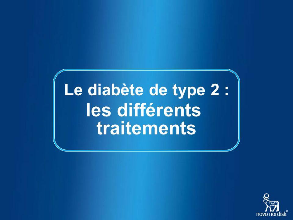 Le diabète de type 2 : les différents traitements