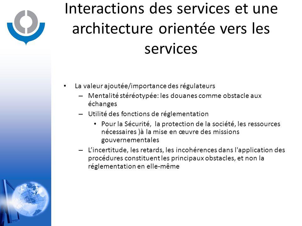 Interactions des services et une architecture orientée vers les services La valeur ajoutée/importance des régulateurs – Mentalité stéréotypée: les dou