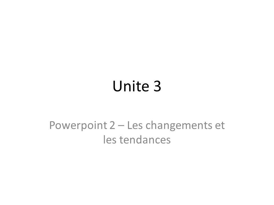 Unite 3 Powerpoint 2 – Les changements et les tendances