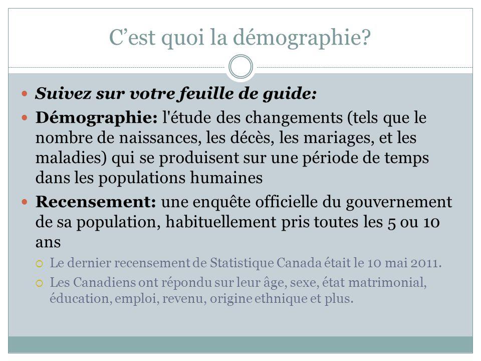 C'est quoi la démographie.