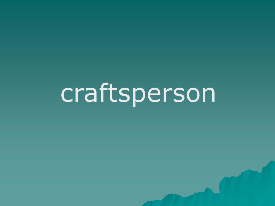 craftsperson