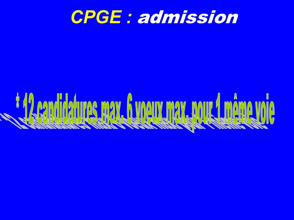 CPGE : admission
