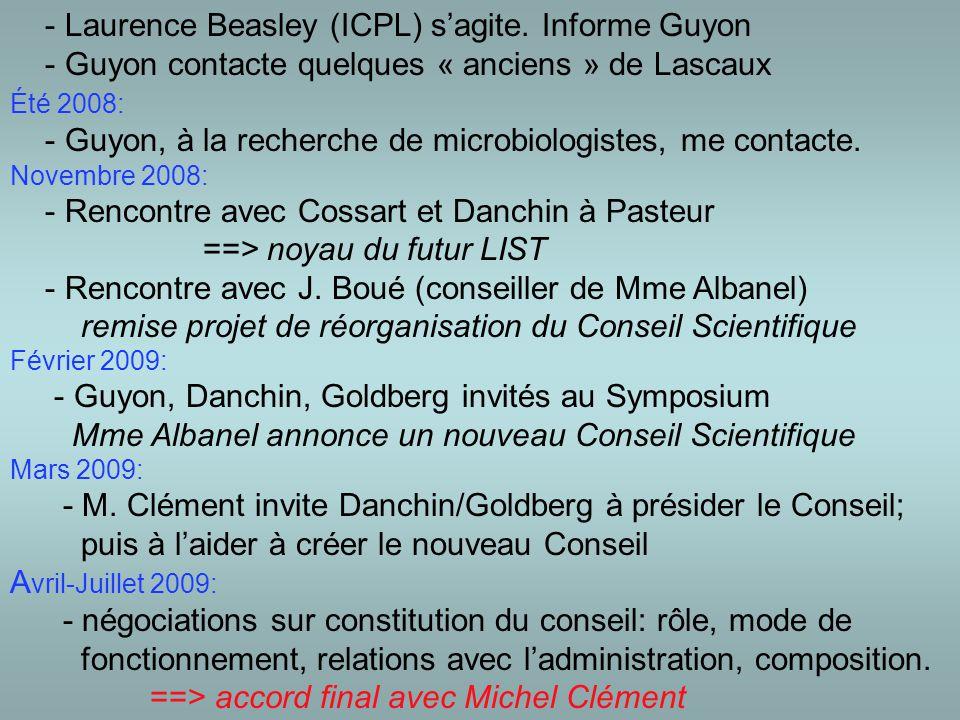 - Laurence Beasley (ICPL) s'agite.