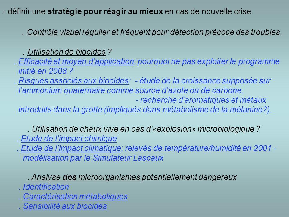 - définir une stratégie pour réagir au mieux en cas de nouvelle crise.