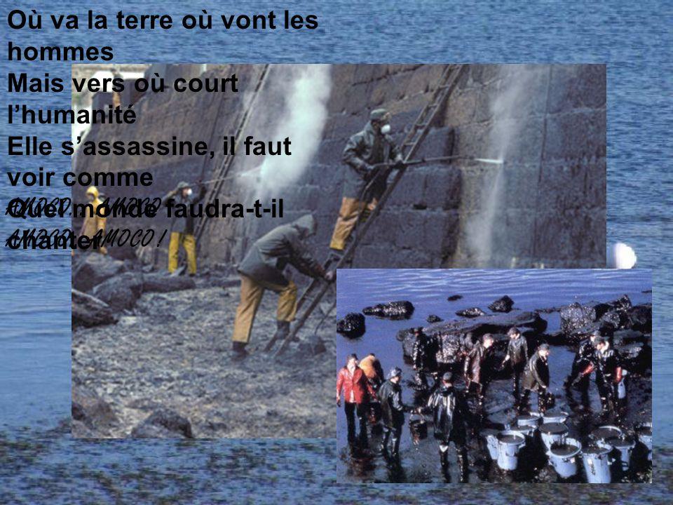 Tant pis pour les côtes bretonnes Et quelques oiseaux mazoutés Gueulez pas trop on subventionne Y en a à peine pour kek'z'années