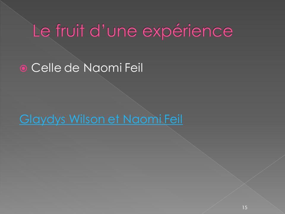  Celle de Naomi Feil Glaydys Wilson et Naomi Feil 15
