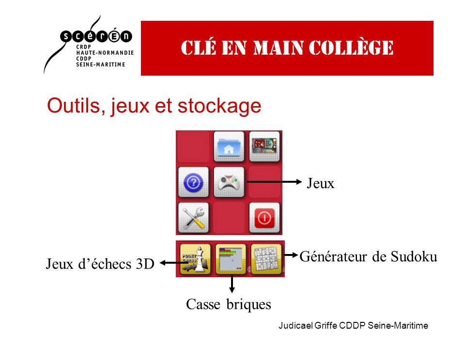 Judicael Griffe CDDP Seine-Maritime Clé en main collège Outils, jeux et stockage Jeux Jeux d'échecs 3D Casse briques Générateur de Sudoku