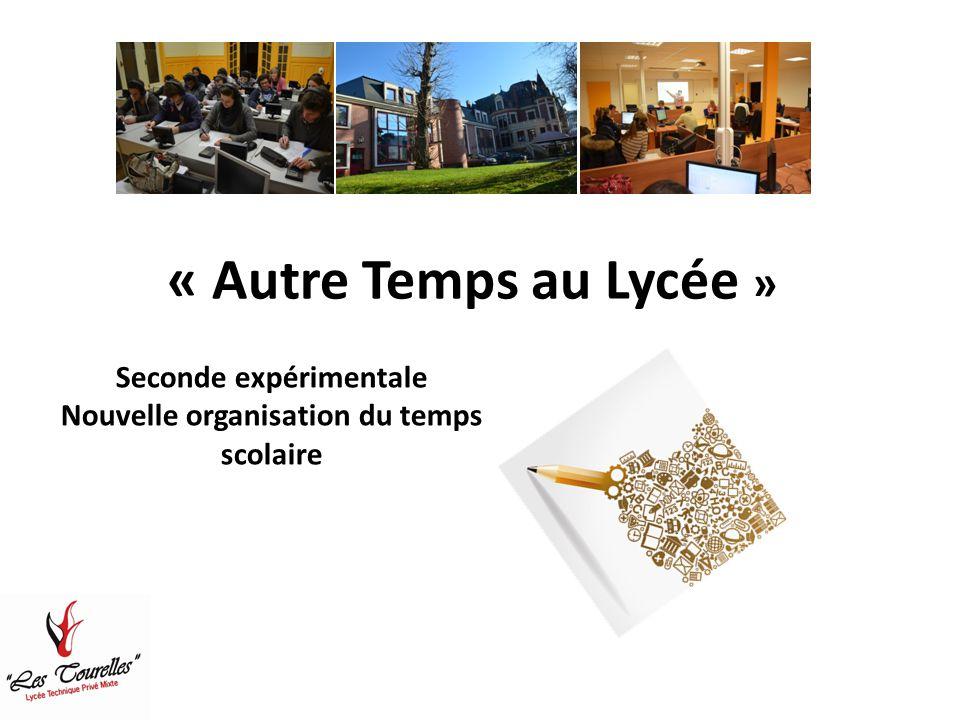 « Autre Temps au Lycée » Seconde expérimentale Nouvelle organisation du temps scolaire
