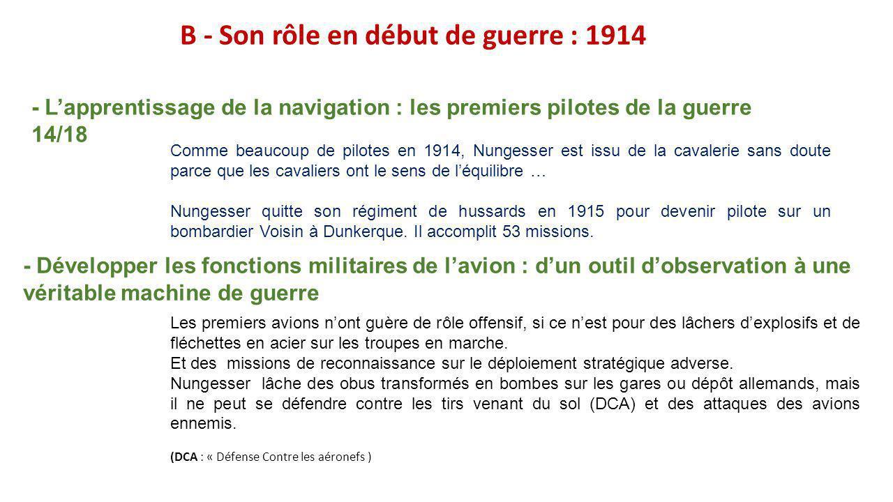 G- Quelques As de la guerre 14-18 et leurs techniques de combat Georges Guynemer (1894-1917) René Fonck (1894-1953) L'allemand Manfred von richsthofen « le Baron Rouge » Avec 80 victoires confirmées, il est l as des as officiel de la Grande Guerre.