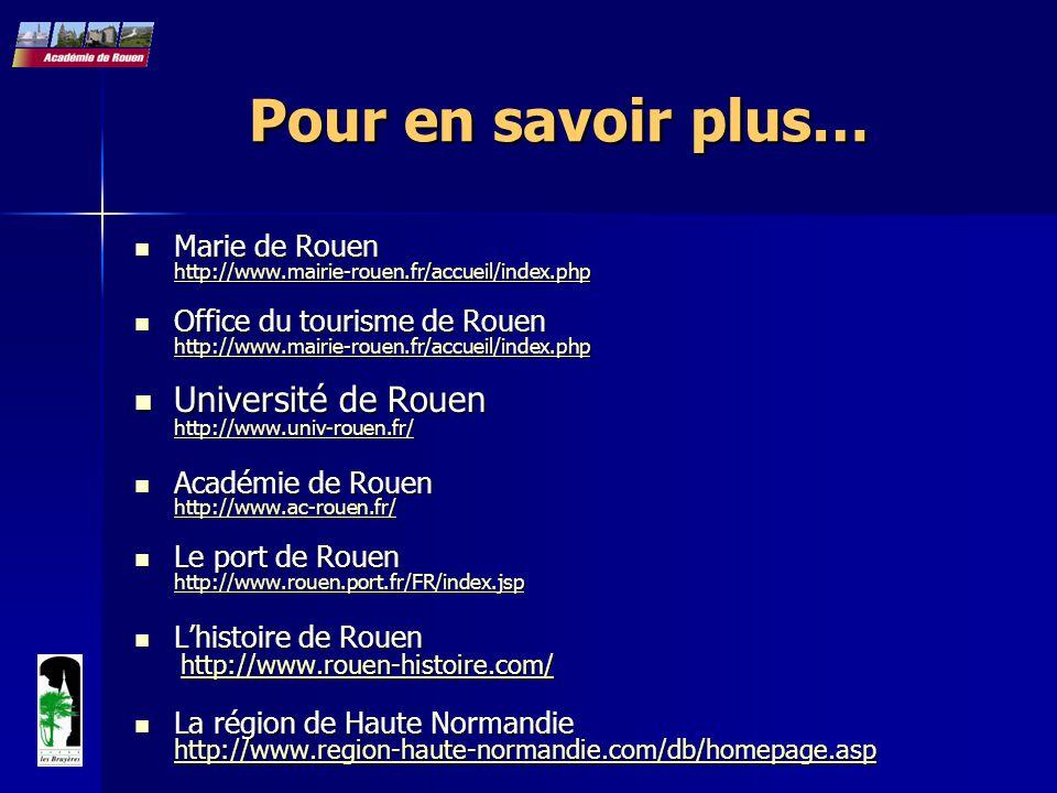 Marie de Rouen http://www.mairie-rouen.fr/accueil/index.php Marie de Rouen http://www.mairie-rouen.fr/accueil/index.php http://www.mairie-rouen.fr/acc