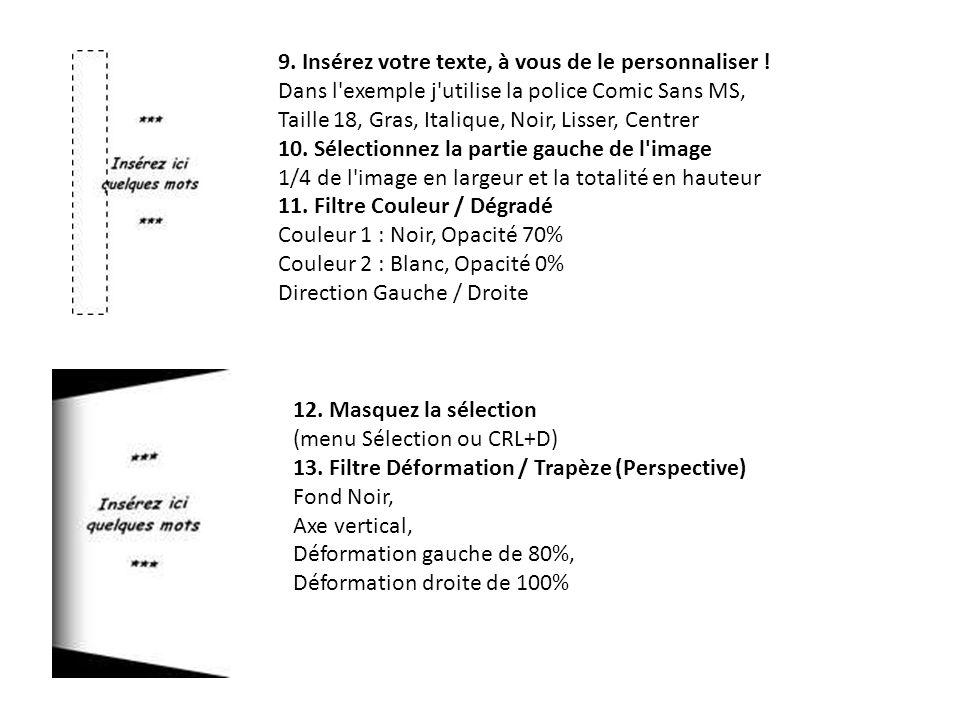14.Copier l image en cours (menu Edition / Copier ou CTRL+C) 15.