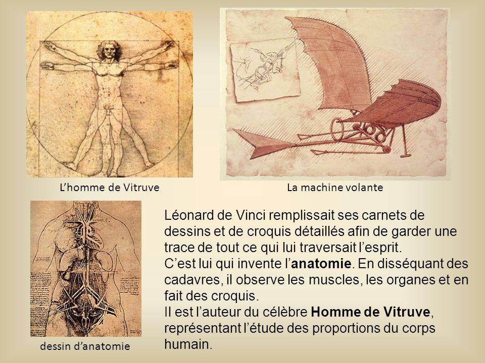Léonard de Vinci remplissait ses carnets de dessins et de croquis détaillés afin de garder une trace de tout ce qui lui traversait l'esprit. C'est lui