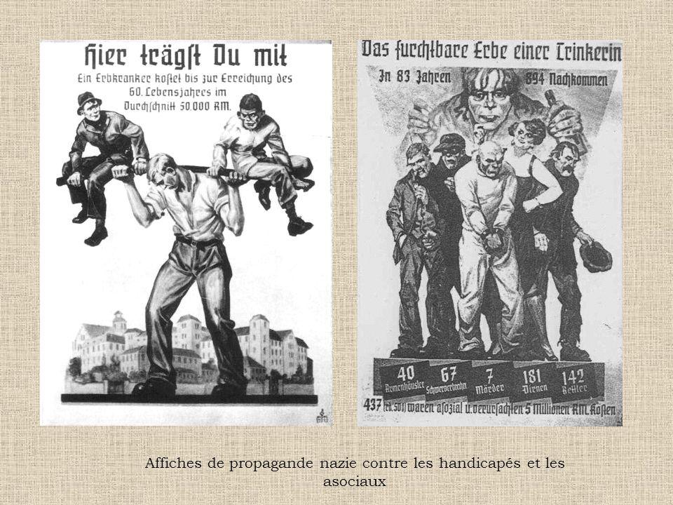 Affiches de propagande nazie contre les handicapés et les asociaux