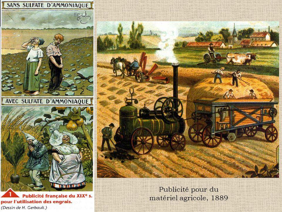 Publicité pour du matériel agricole, 1889
