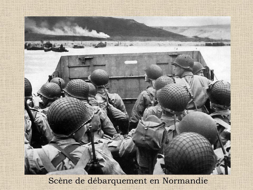 Scène de débarquement en Normandie