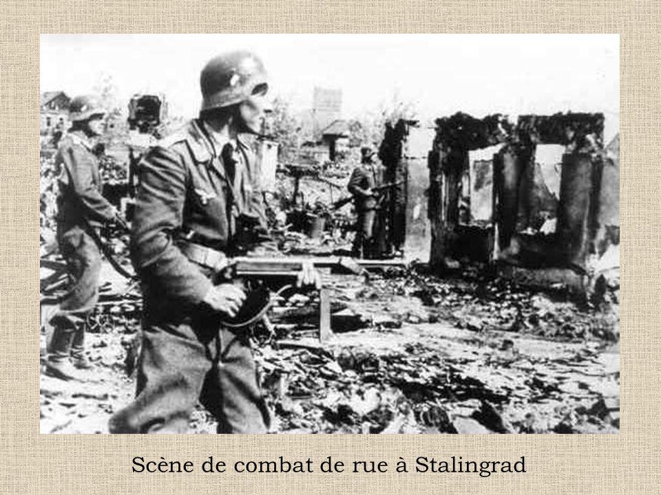 Scène de combat de rue à Stalingrad