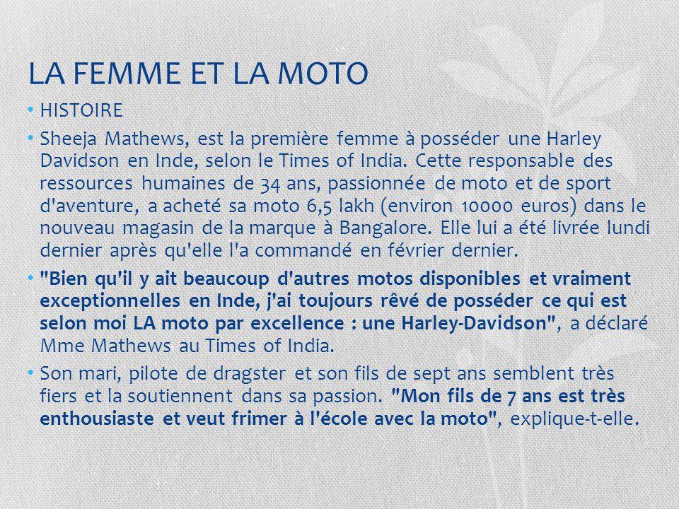 Le permis –moto est un obstacle à l'emploi des femmes http://www.lexpress.fr/emploi-carriere/emploi/les-femmes-en-moto-discriminees-au- boulot_954376.html http://www.lexpress.fr/emploi-carriere/emploi/les-femmes-en-moto-discriminees-au- boulot_954376.html Une chercheuse du CNRS a démontré que les femmes titulaires d un permis moto ont plus de difficultés à trouver un emploi que les autres.