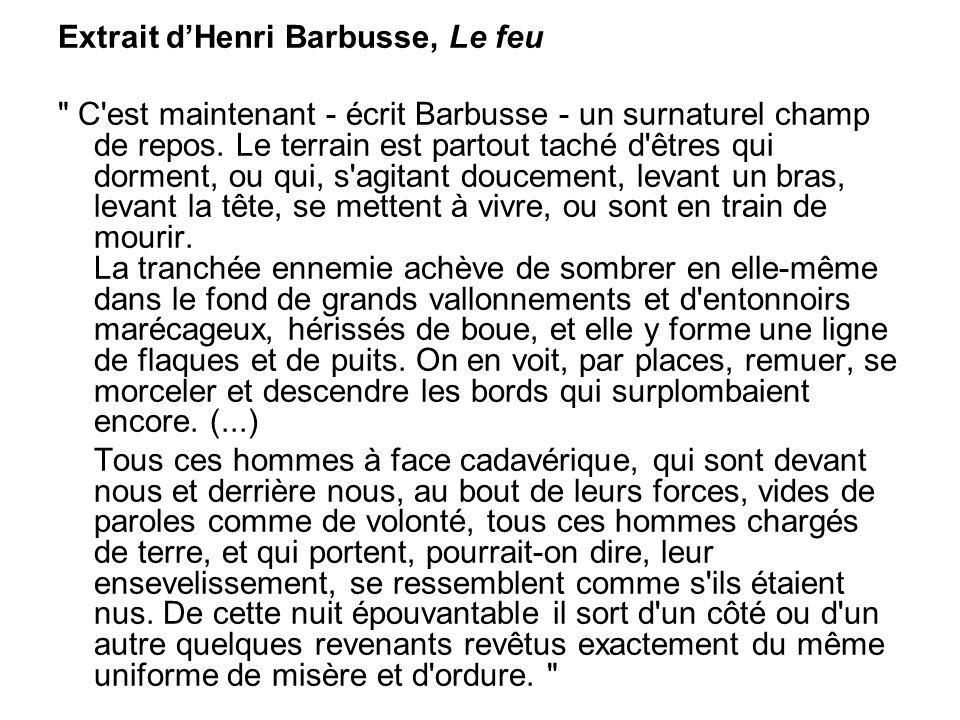 Extrait d'Henri Barbusse, Le feu