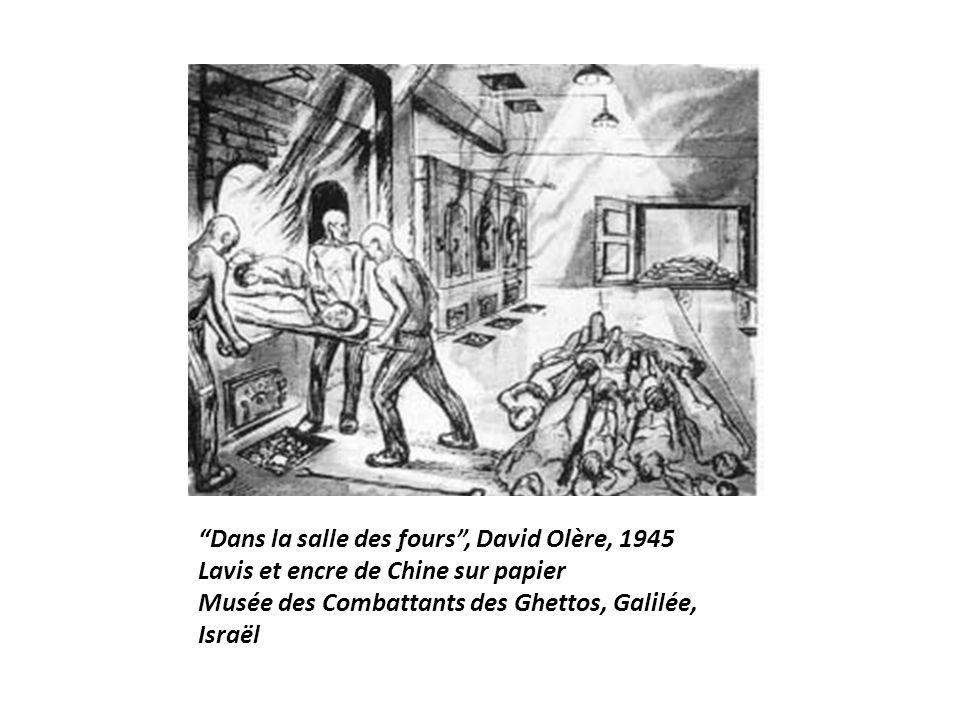 """""""Dans la salle des fours"""", David Olère, 1945 Lavis et encre de Chine sur papier Musée des Combattants des Ghettos, Galilée, Israël"""
