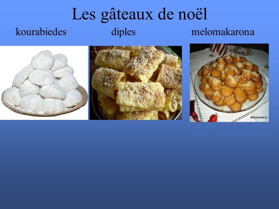 Les gâteaux de noël kourabiedes diples melomakarona