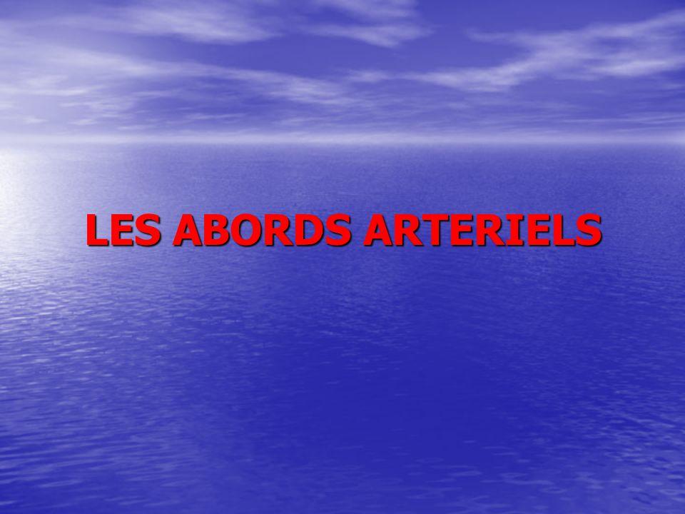LES ABORDS ARTERIELS