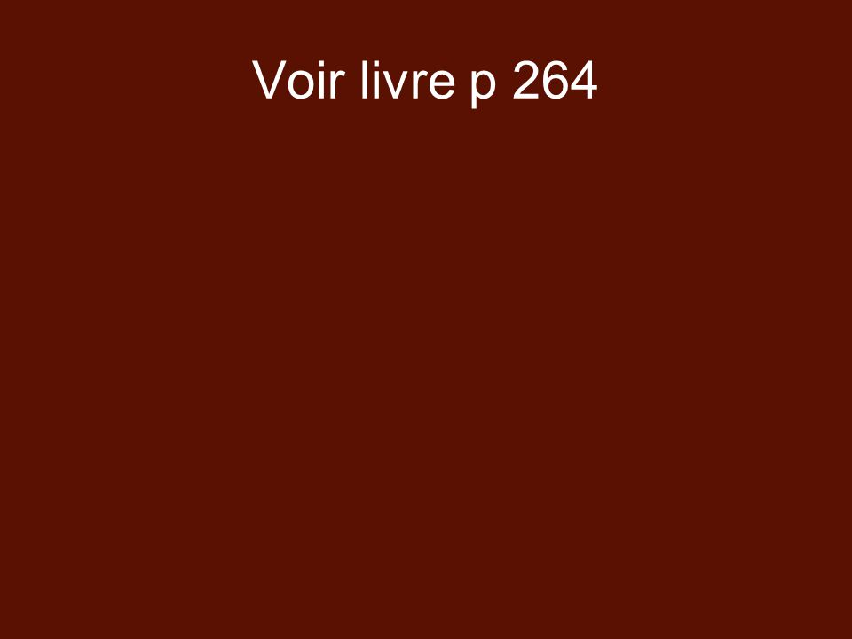 Voir livre p 264
