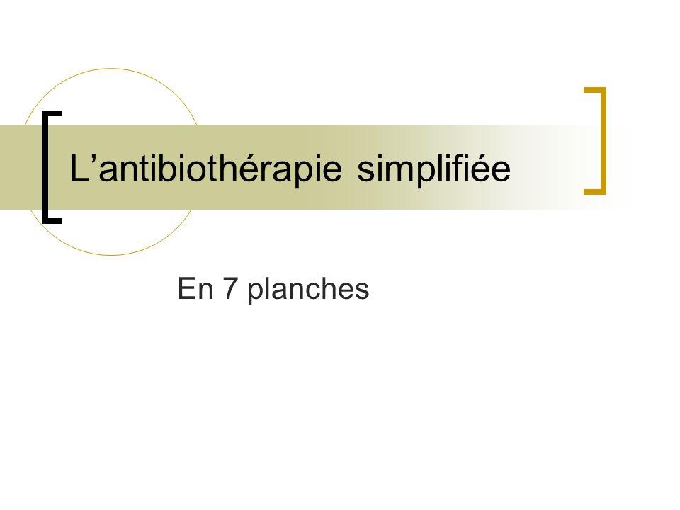 L'antibiothérapie simplifiée En 7 planches