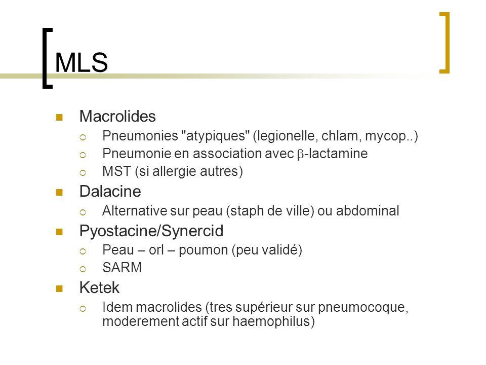 MLS Macrolides  Pneumonies