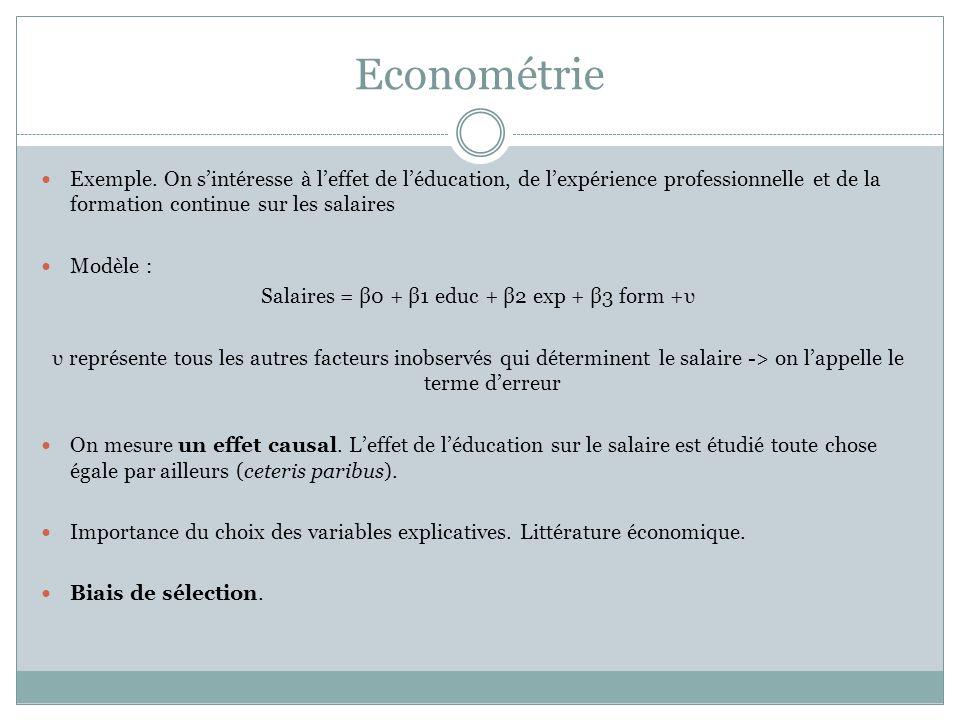 Econométrie Exemple.