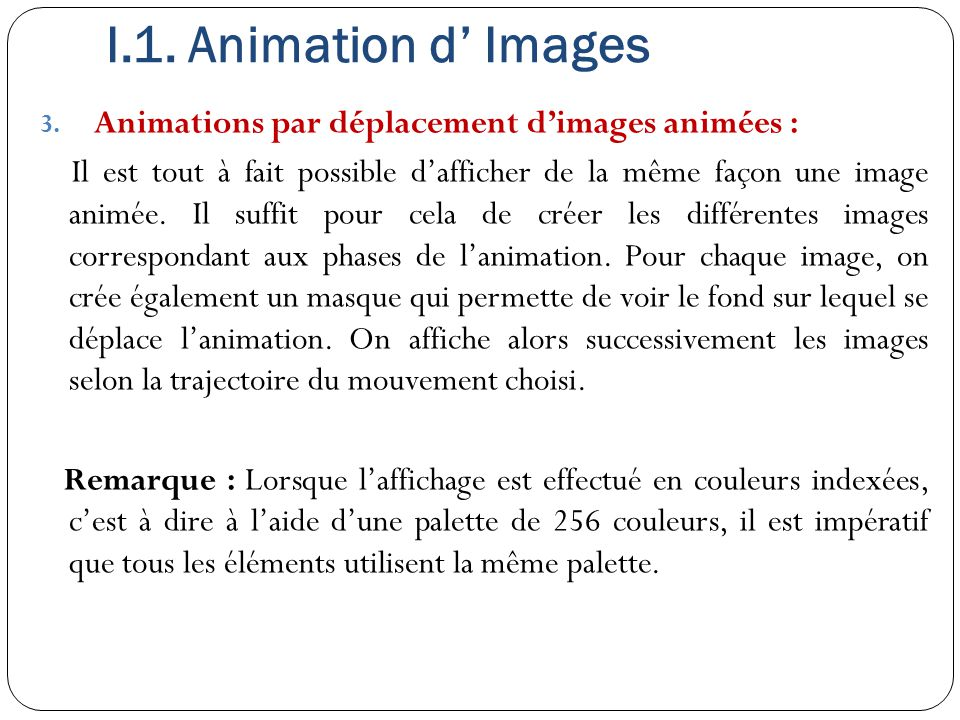 I.1.Animation d' Images 3.